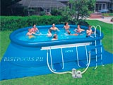 Овальный бассейн Intex Oval Frame Pool 28194, 610 х 366 х 122 см